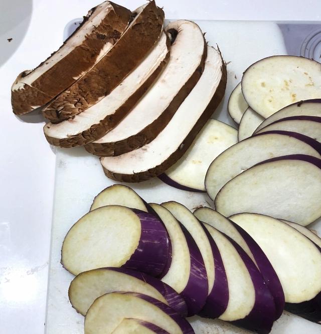 eggplant and mushroom